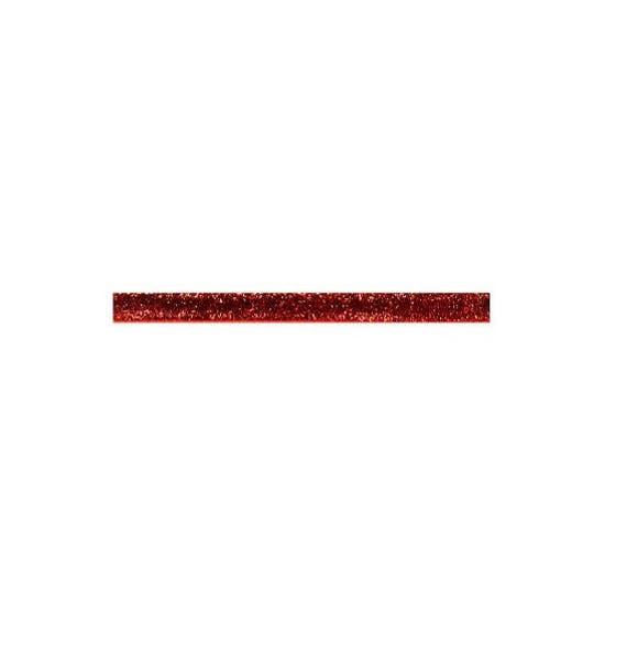 Ribbon stripe Lurex 10 mm Red Metallic x2m