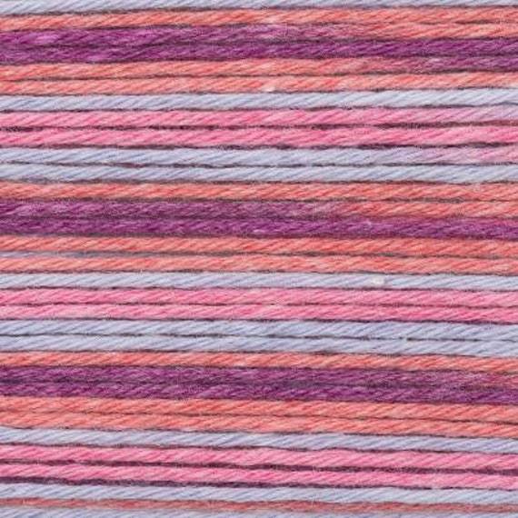 RICO BABY cotton yarn ball Print Soft COTTON and acrylic fabric lilac red 50g 125 m
