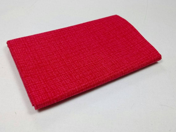 COLOR WEAVE fabric Coupon cotton patchwork red 50x55cm