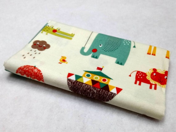 GIRAFFE CROSSING fabric Coupon cotton patchwork Giraffe Crossing 2 ivory 50x55cm