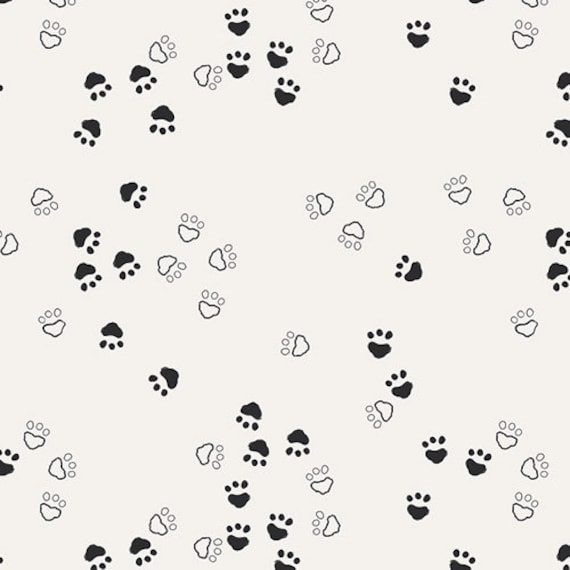 Bottle cap is cotton fabric patchwork designs prints pasta bear graphic black and white x 1 meter