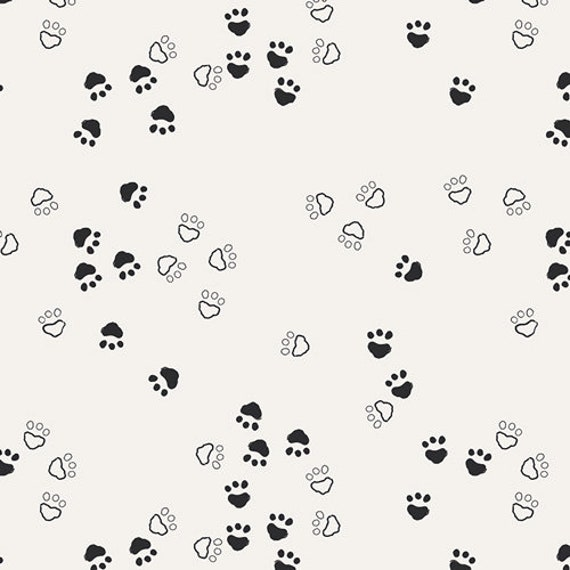 CAPSULES NEST fabric cotton patchwork blocks bear graphic black and white x prints designs 50 cm