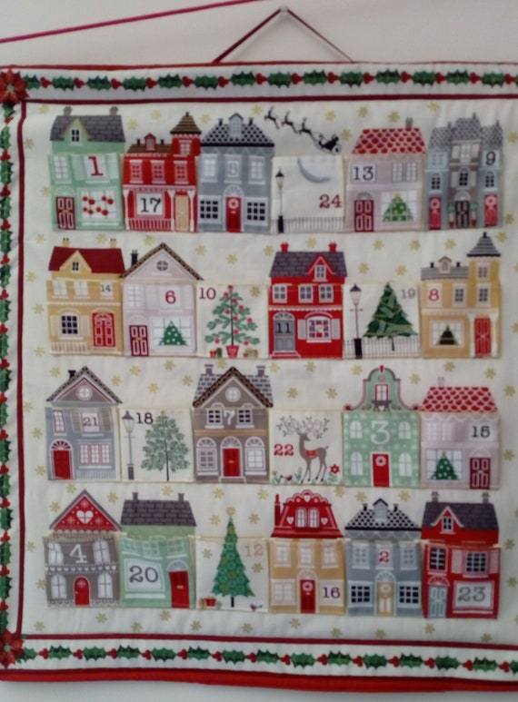 CHRISTMAS fabric Coupon cotton patchwork Panel advent calendar do-it-yourself 60 x 110 cm