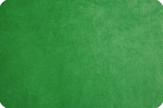 Kelly green synthetic velvet x25cm MINKY fabric