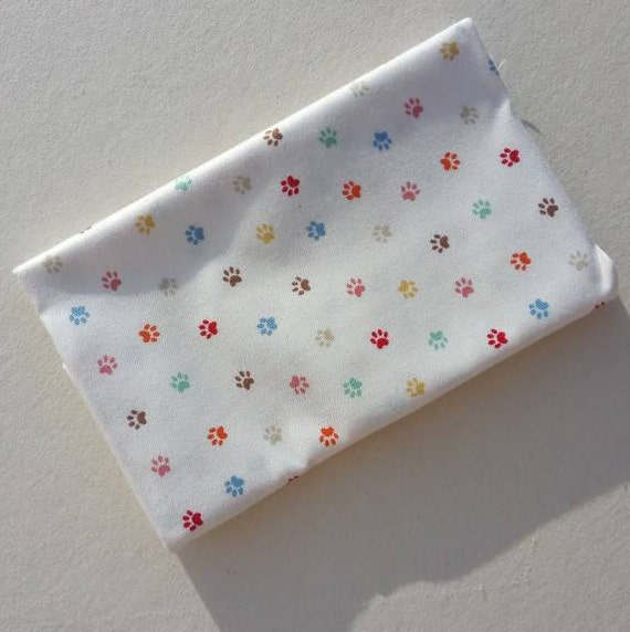 CRAFTY CATS Coupon fabric cotton patchwork ivory 50x55cm PAWS Cream prints