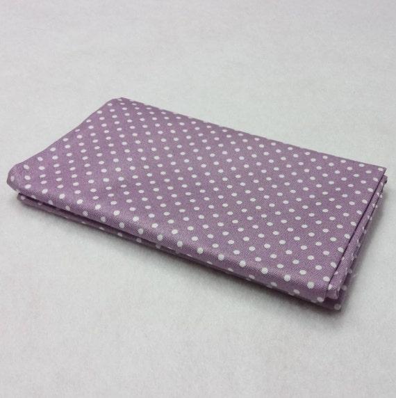 SPOT ON Coupon fabric cotton patchwork polka dot white on purple 50x55cm