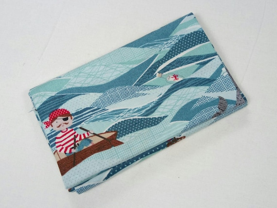 PIRATES fabric Coupon cotton patchwork sea 50x55cm Pirate ships