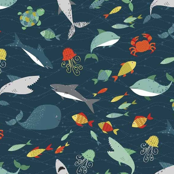 PIRATES cotton fabric patchwork peoples of the sea x50cm