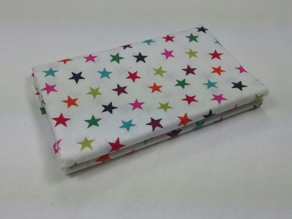 WRAP IT UP fabric Coupon cotton patchwork Stars white 50x55cm