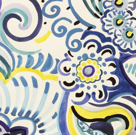 SALE fabric by Alexander Henry Talavera Swirl Pool x1m patchwork cotton