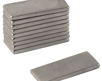 Set of 4 magnets wand 20x5mm silver