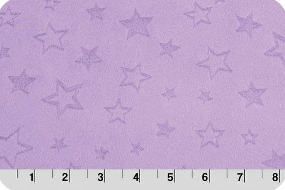 MINKY Coupon long synthetic velvet fabric red 90x155cm shaved stars