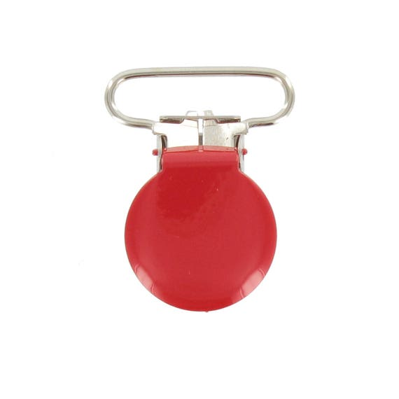RED 25MM METAL STRAP CLIP