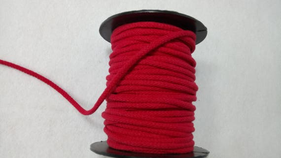 RED 4MM X2M COTTON CORD