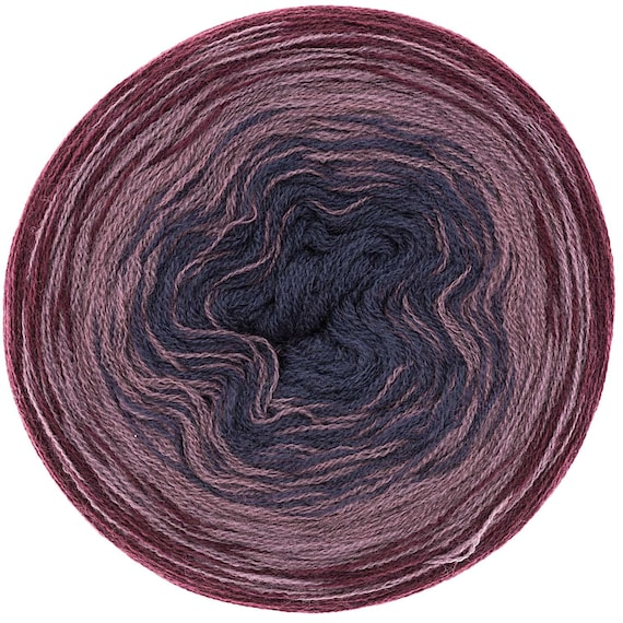 CREATIVE WOOL gradient skein gradient 3 colors Blue and Burgundy 200-800 m g