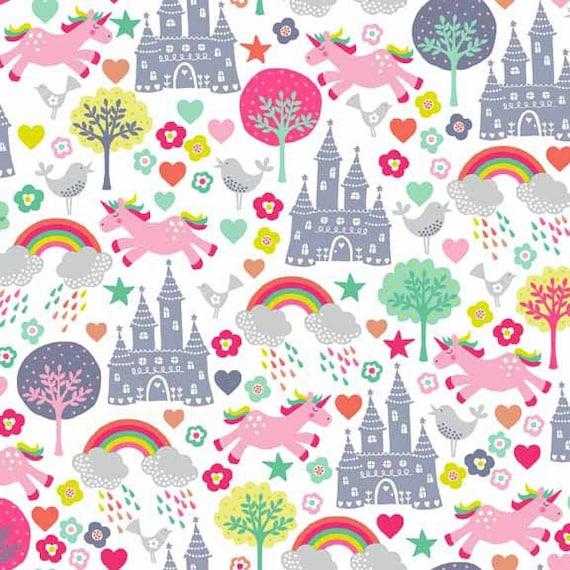 FANTASY fabric patchwork FANTASY SCENIC x50cm white cotton