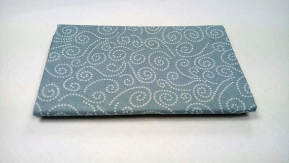 WINDY DAY fabric Coupon cotton patchwork SWIRL gray 50x55cm