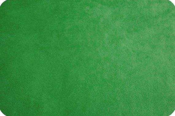 MINKY Coupon 90x155cm kelly green synthetic velvet fabric