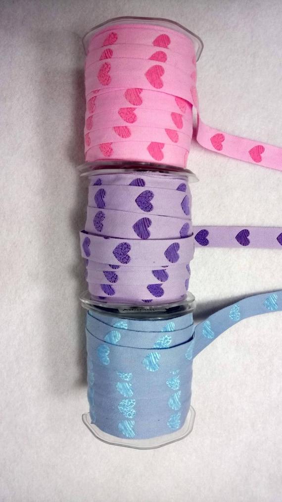 Ribbon cotton short Velvet 3 colors x2m hearts