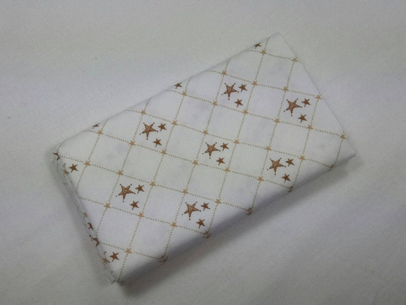 SHINE BRIGHT fabric Coupon cotton patchwork Shine Bright Tan Stars 50x55cm