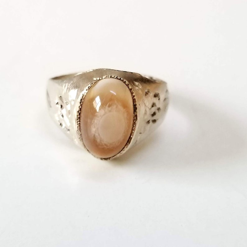 925 sterling silver ring genuine eye yemen agate mens ring middle eastern jewelry gemstone yemen agate gift for him natural agate stone