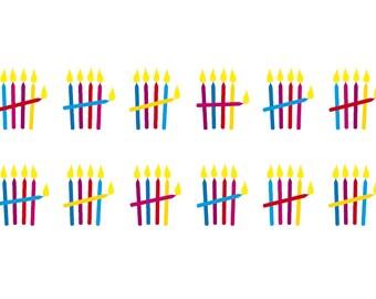 Einladung Zum 60. Geburtstag: Kerzen Strichliste