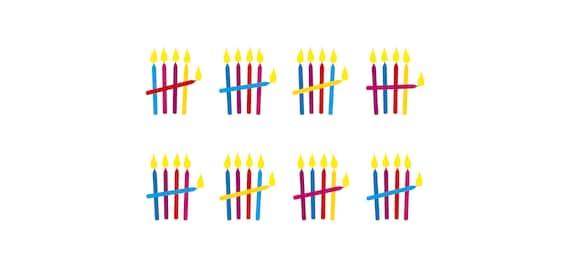 Einladung Zum 40. Geburtstag: Kerzen Strichliste