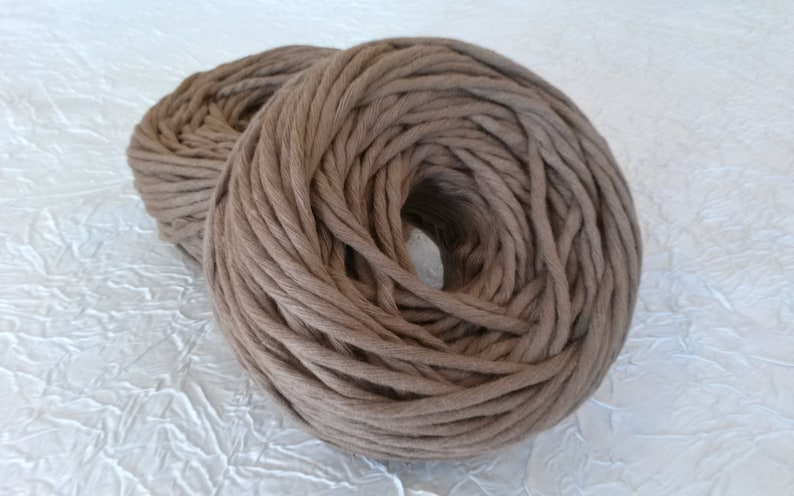 cotton rope macrame 5 mm macrame string 100/% cotton rope coil rope macrame 45 combed cotton yarn Cotton rope 75 m cinnamon