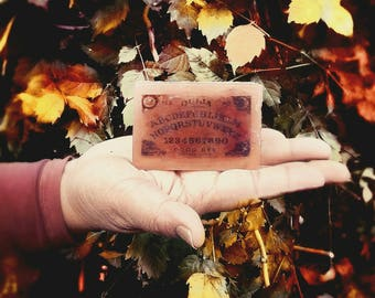 Soap DEAD, Bath & BEYOND Ouija Spirit Board Planchett Seance Occult Horror Soaps Scary Ghost  Paranormal Supernatural 4.5 oz  Fireside Scent