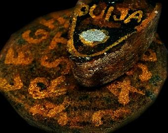 Bath Bomb DEAD, Bath & BEYOND Ouija Spirit Board Planchett Seance Occult Horror Soaps Paranormal Supernatural 5oz  Fireside Scent 2 Piece