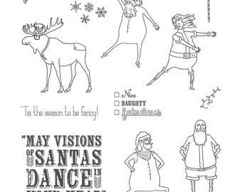 Stampin UP Visions of Santa Photopolymer Stamp  Set