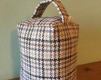 Gingham check doorstop