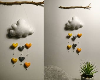 Wall hanging mobile