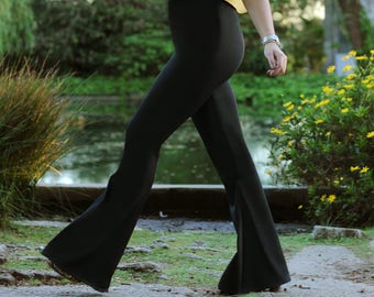 High waist Fashion Elastic Flare pants