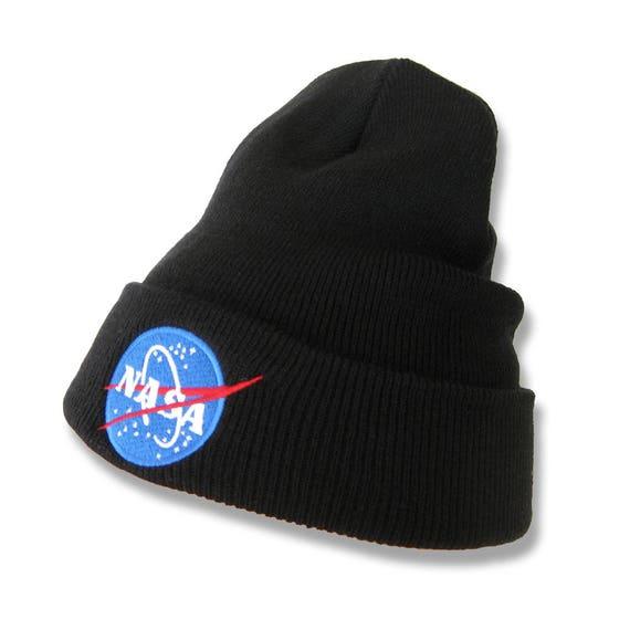 Nasa Logo Embroidered Beanie Hat  b5a1660907a