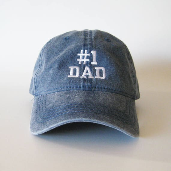 7e95ce845ad5d1 Number 1 Dad Embroidered Cap 1 Dad Cap 1 dad hat 1 dad | Etsy
