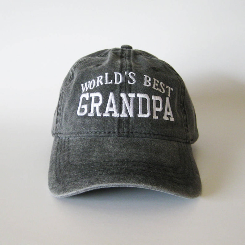 2e0adec11d4 World s Best Grandpa Cap grandpa cap embroidered cap