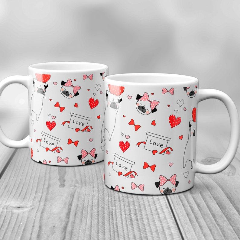 Pug Love Valentine's Day Mug