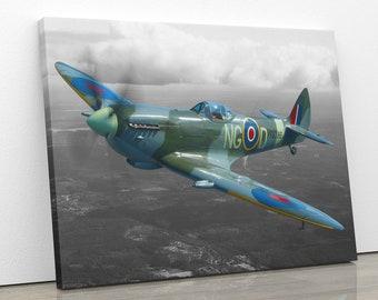 Dunkirk Spitfire Plane WW2 Framed Canvas Five Piece Wall Art 5 Panel Home Decor