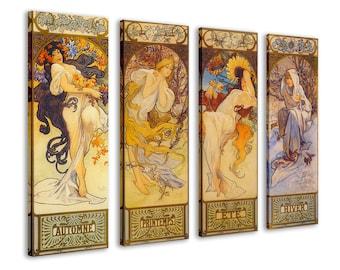 "Stunning Alphonse Mucha Moet Champagne Imperial CANVAS PRINT 24/""X10/"" Art Nouveau"
