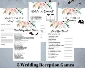Wedding Reception Games.Reception Games Etsy