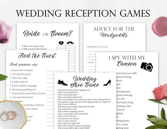 8 Wedding Reception Games, Printable Wedding Reception Game, Fun Wedding  Game, Creative Wedding Activities
