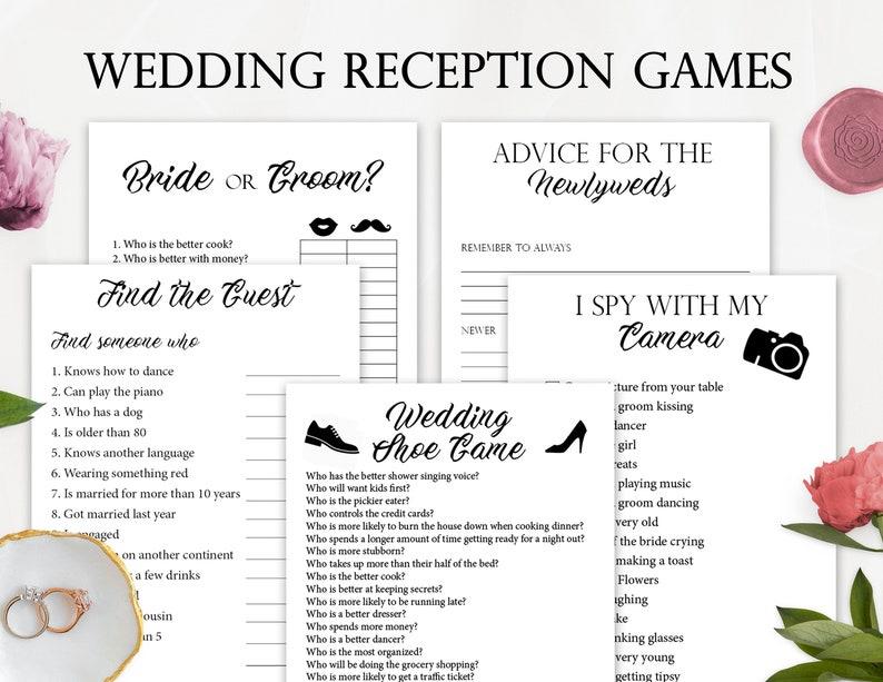 Wedding Reception Games.5 Wedding Reception Games Printable Wedding Reception Game Fun Wedding Game Creative Wedding Activities