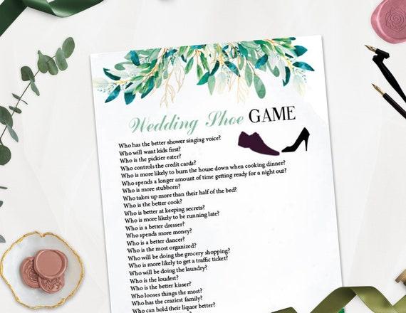 Wedding Reception Games.Wedding Shoe Printable Game Wedding Shoe Game Questions Wedding Reception Game Fun Wedding Games