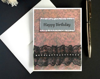 Dark birthday card goth birthday gothic birthday card goth etsy creepy cute gothic birthday card with black lace accent victorian greeting card victorian birthday card dark birthday card m4hsunfo