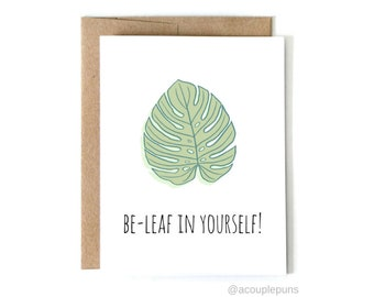 Be-Leaf, Quarantine Card, Friendship Card, Best Friend Card, Supportive Card, Thinking of You, Cute Card, Wholesale Greeting Cards