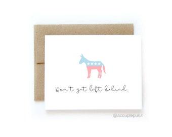 Left Behind // Democrat Gift, Democrat Card, Father's Day Card, political fathers day card, democrat dad card