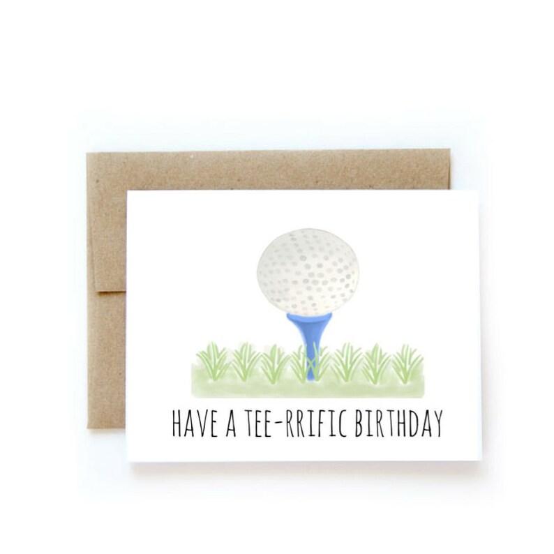 Teerrific Birthday Golf Card For