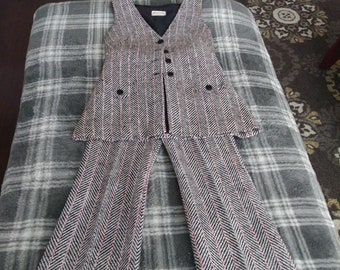Pant Suit - Beautiful Tweed Vintage - Bronson of California