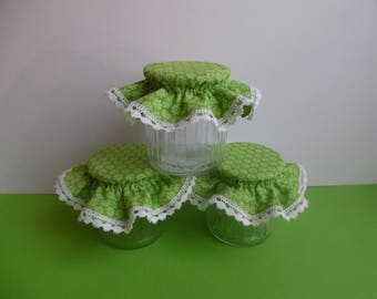 3 hats for green jelly jars
